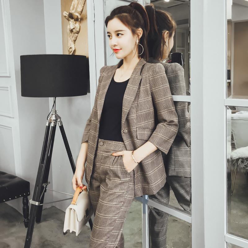 Kurze Hose lattice Anzüge Frauen Büro Anzüge Formelle Arbeit