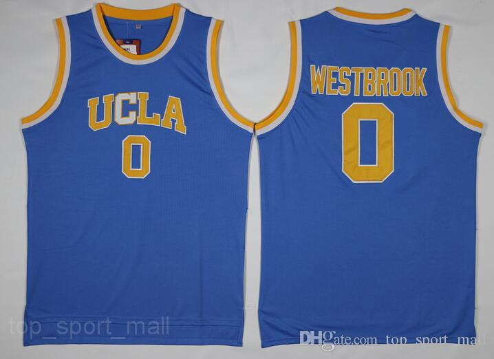 UCLA Bruins Jersey College Basketball Russell Westbrook Lonzo Ball Zach LaVine Kareem Abdul Jabbar Reggie Miller Bill Walton Kevin Love Blue
