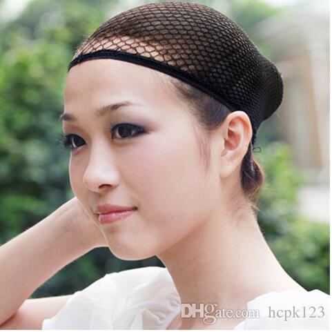 보이지 않는 머리 그물 머리카락으로 고정 된 가발은 두 개의 높은 탄성 그물 모자 메쉬 그물 커버 착용 액세서리를 설정합니다