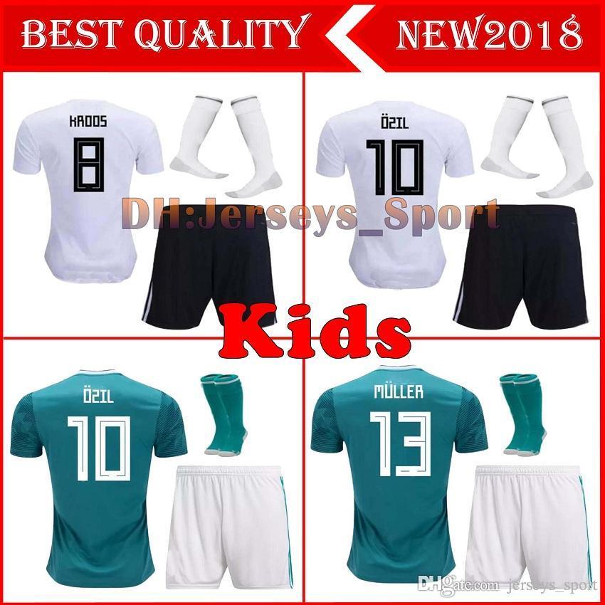 2a39a05f452 2019 2018 19 Germany World Cup Kids Kit Soccer Jerseys 2018 Home Jersey  Shirt Customize MULLER OZIL GOTZE REUS KROOS HUMMELS Children Kit From  Jerseys sport ...