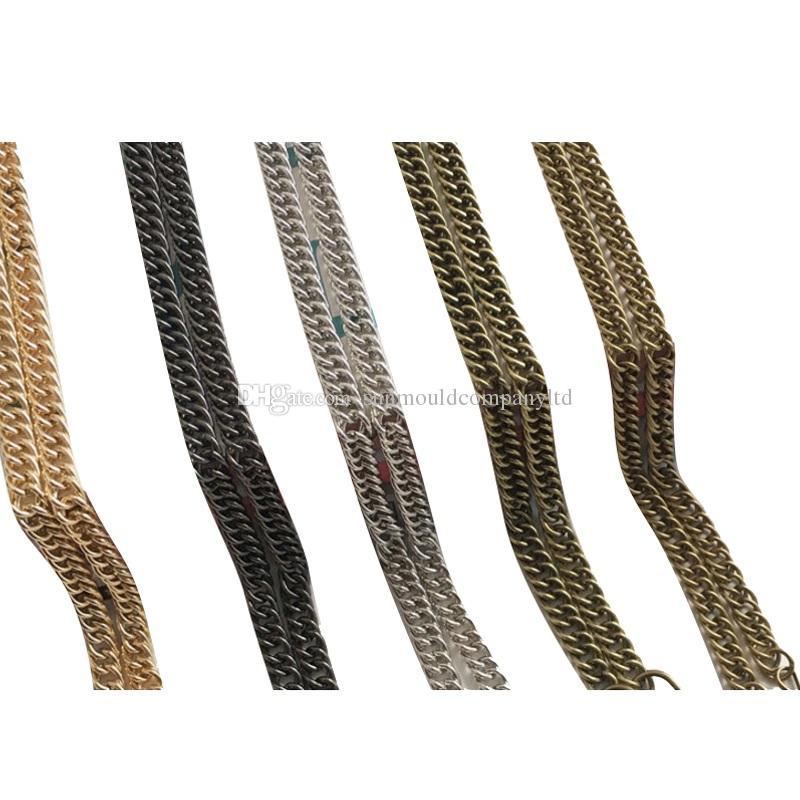 Commercio all'ingrosso 140 centimetri di alta qualità Cinghia di cinghia cinghie donne borsa della borsa della borsa della sostituzione del messaggero cinghie di metallo Accessori Maniglia della catena dell'hardware