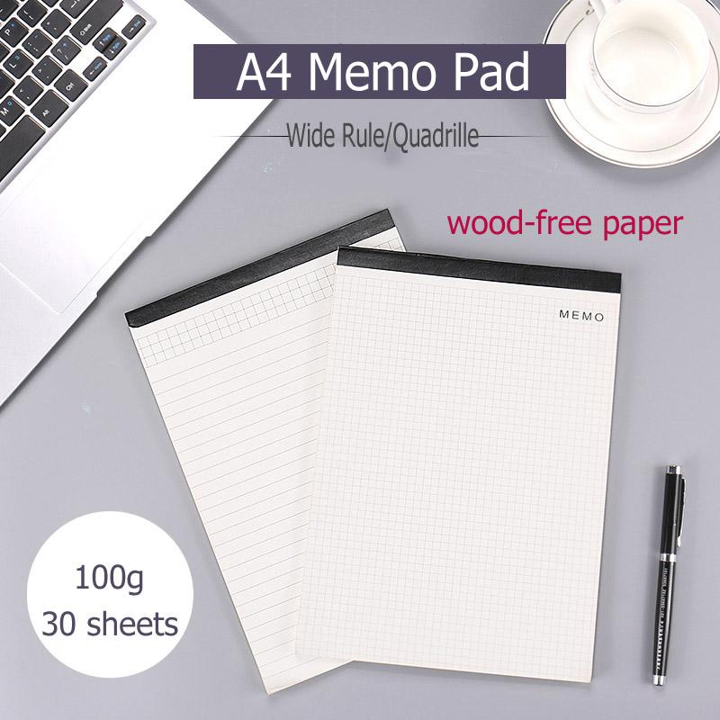 2018 a4 ivory white memo pad for clipboard 100g wood free paper