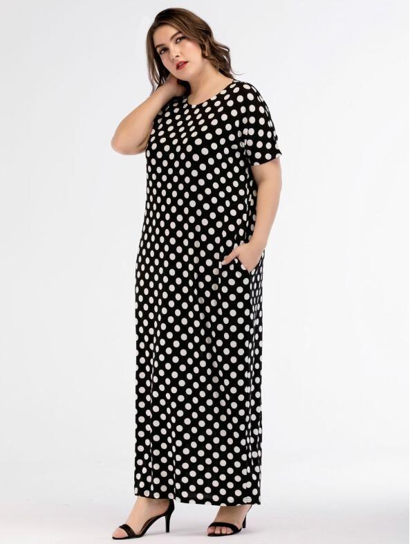 Plus Size Maxi Long Dress Summer 2018 Women Brief Elegant Urban