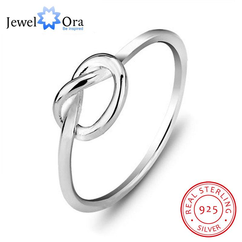 2019 Genuine 925 Sterling Silver Best Gifts For Girl Women Jewelry Bands Knot Ring Birthday Gift Friend JewelOra RI102297 From Tiebanshao