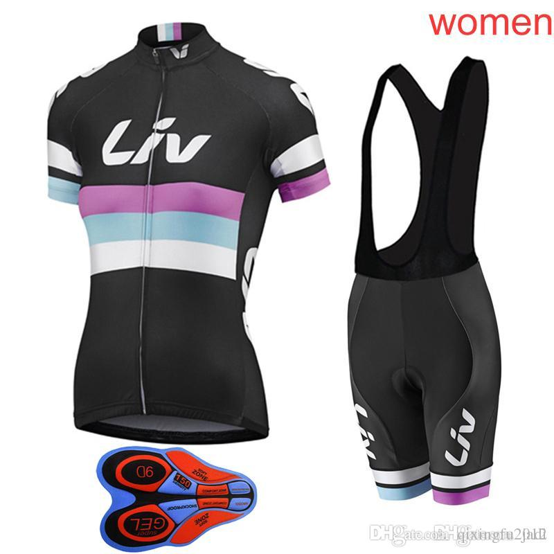 Fashion Women/'s Cycling Kits Ladies Bike Cycling Jerseys /& Coolmax Shorts Sets