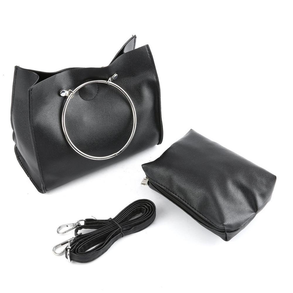 4aab753083 Acquista Moda Donna Borsa Alla Moda In Ferro Anello Maniglia Borsa  Messenger Bag Composito Borsa Donna Casual PU Leather A $34.57 Dal Finallan  | DHgate.Com