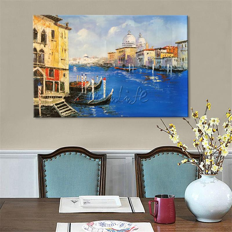 2018 Canvas Painting Venice Italian Seascape Wall Art Pictures For ...