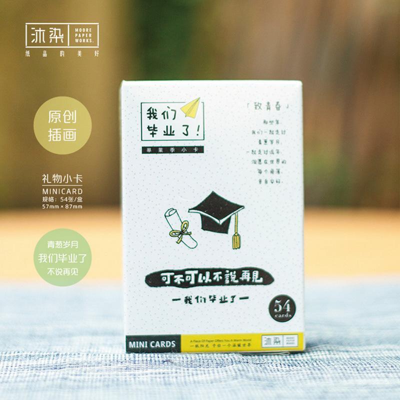 Graduation Season Student Mini Card Greeting Card Rabbit Lomo Memo
