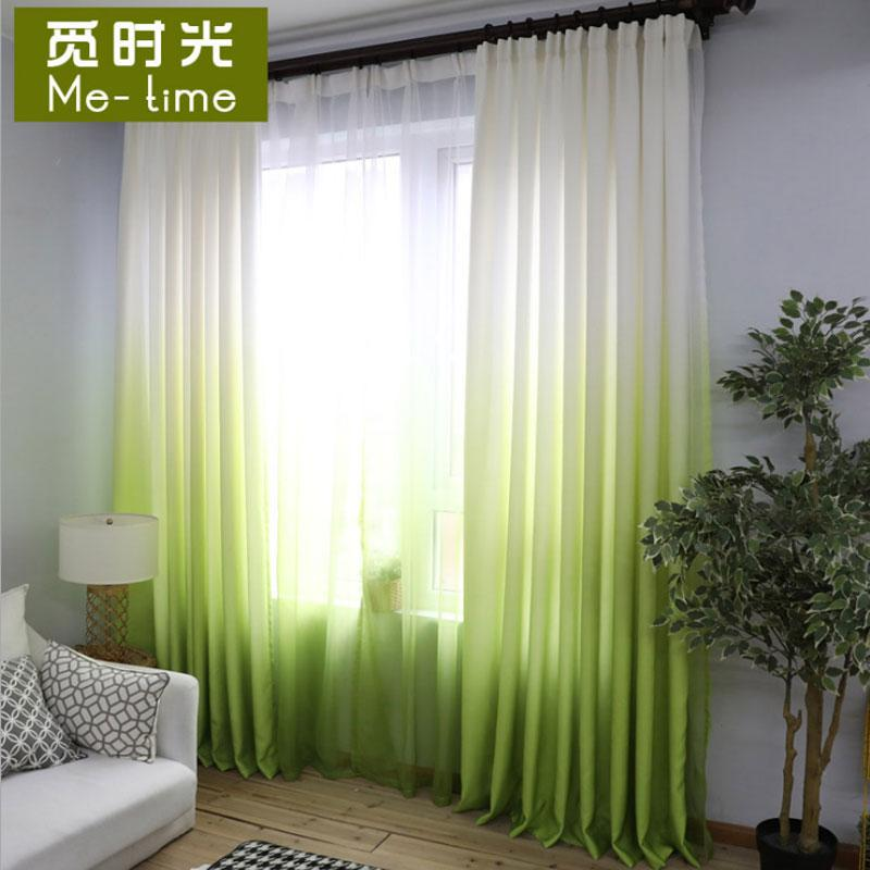 Merveilleux 2018 Green Gradient Color Curtains For Living Room Cotton Drapes For Bedroom  Modern Curtain Fabric +Voile Tulle Window Shades Panel From Gor2don, ...