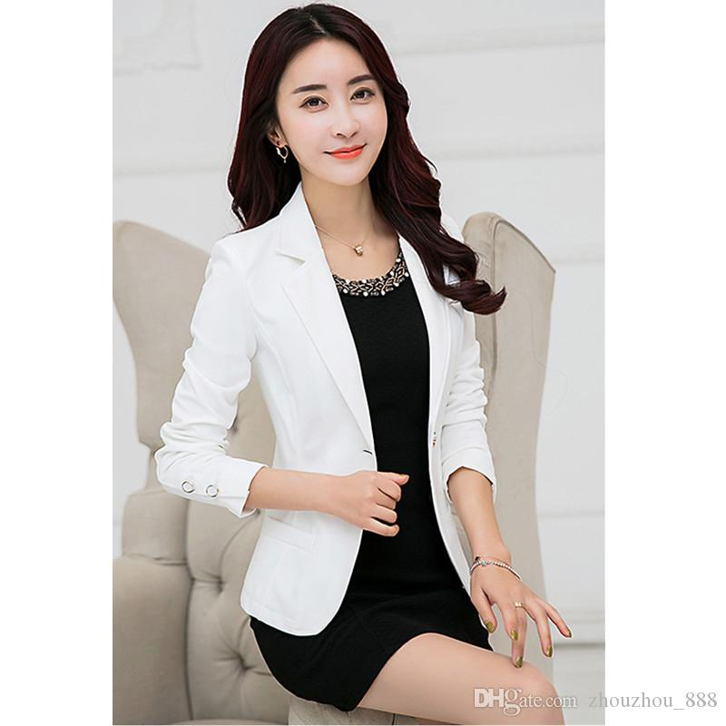 027a8c1eb81 Customized New Hot Fashion Trend Women S Western Body Slimming Solid Color Women S  Suit Jacket Business Office Professional Dress Ladies Jackets Black ...