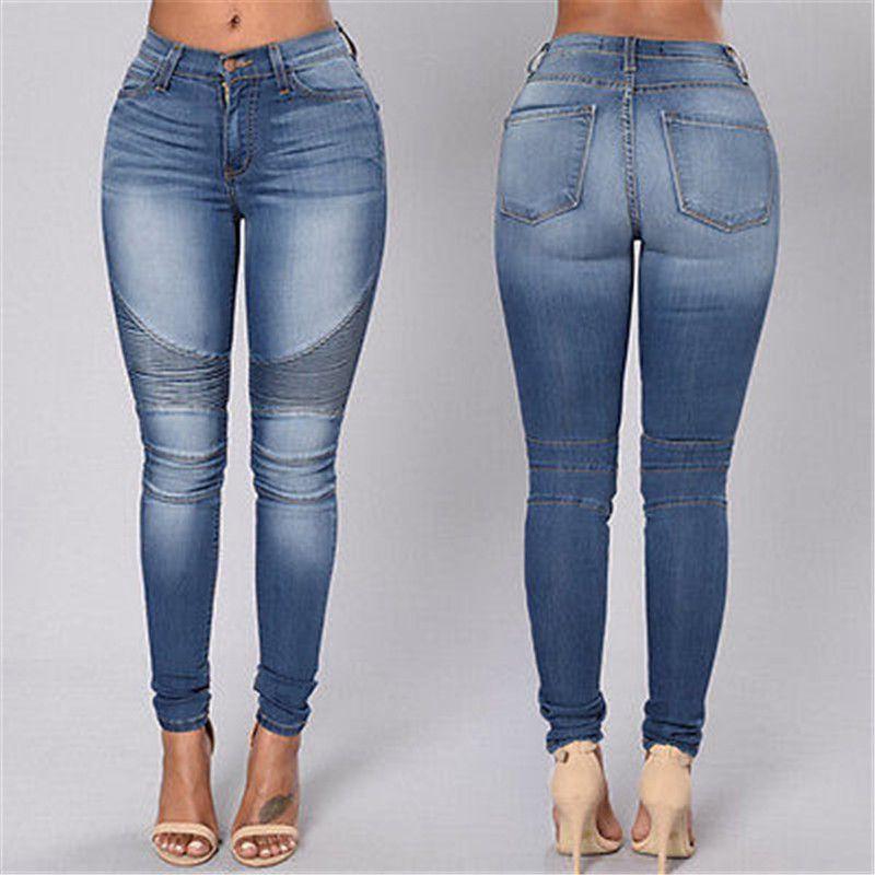 74d6a1774c76 New Sexy Women Denim Skinny Pants High Waist Stretch Jeans Slim Pencil  Trousers UK 2019 From Jiuwocute