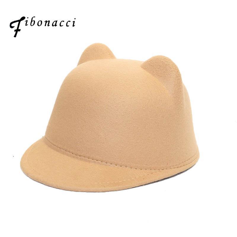 3ea289ea245f5 Fibonacci Mother Daughter Felt Fedora Hat Child Adult Solid Color ...