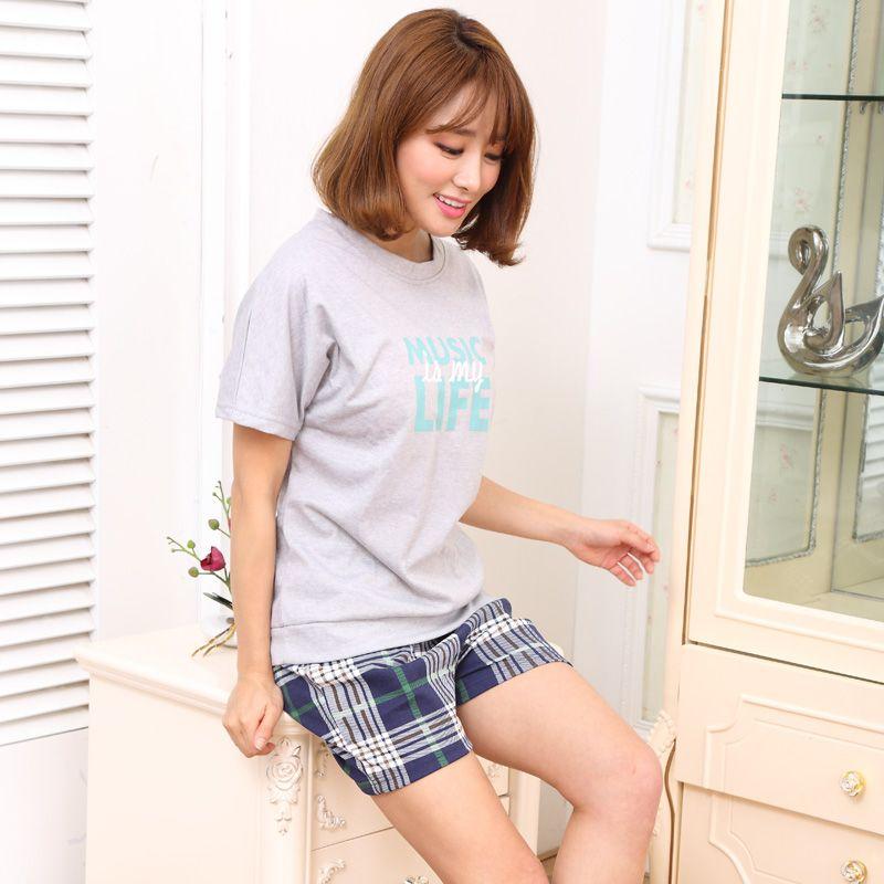 Couple Pajamas Set Big Size 3XL Summer Short Sleeve Sleepwear Men Pijama Women Nightwear Cartoon Pyjamas Home Clothing