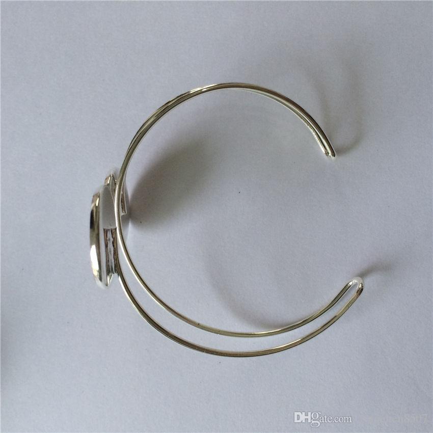 Retro Vintage Armreifen für Sublimation Einfache doppelte Linie Armbänder Schmuck für Frauen Sublimation Verbrauchsmaterial DIY Material 20MM Großhandel