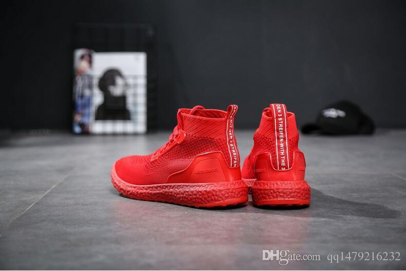 2018 ilkbahar ve sonbahar yeni moda rahat yürüyüş örme örgü koşu ayakkabıları yüksek yardım nefes koşu ayakkabıları ABD boyutu 7-10 c6