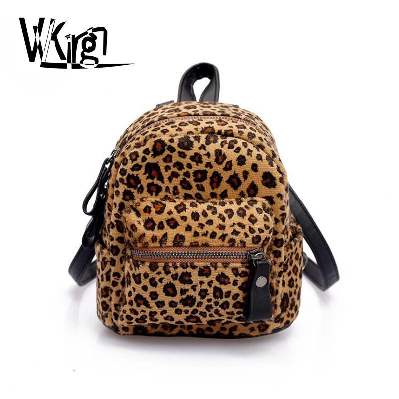 83ef8e62be9d VVKing Brand Leopard Printed Backpack Casual Ladies Backpack Girls Travel  Shoulder Bags Female Student School Bag Mini Zebra Bag Kelty Backpack Camo  ...