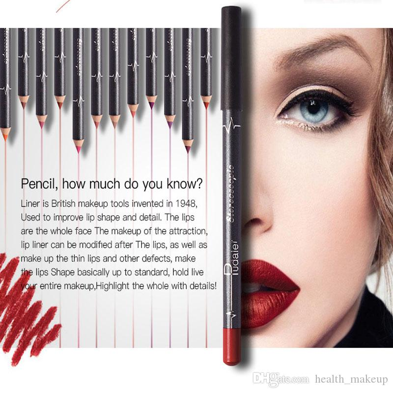 Quality Pudaier Waterproof Lips Liner Long Lasting Matte Makeup Sets Lipstick Pencil Lipliner Sexy Stereoscopic Kits DHL Free Ship