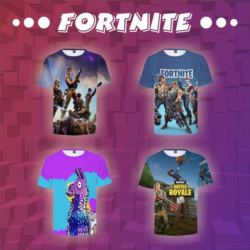 best website a376b 6e75a 21 Designs Fortnite Kinder T-Shirt Jungen Gilrs Coole Print 3D Schädel  Sommer T-Shirt Kurzarm Rundhals Top Tees Kinder Freizeitkleidung Hot