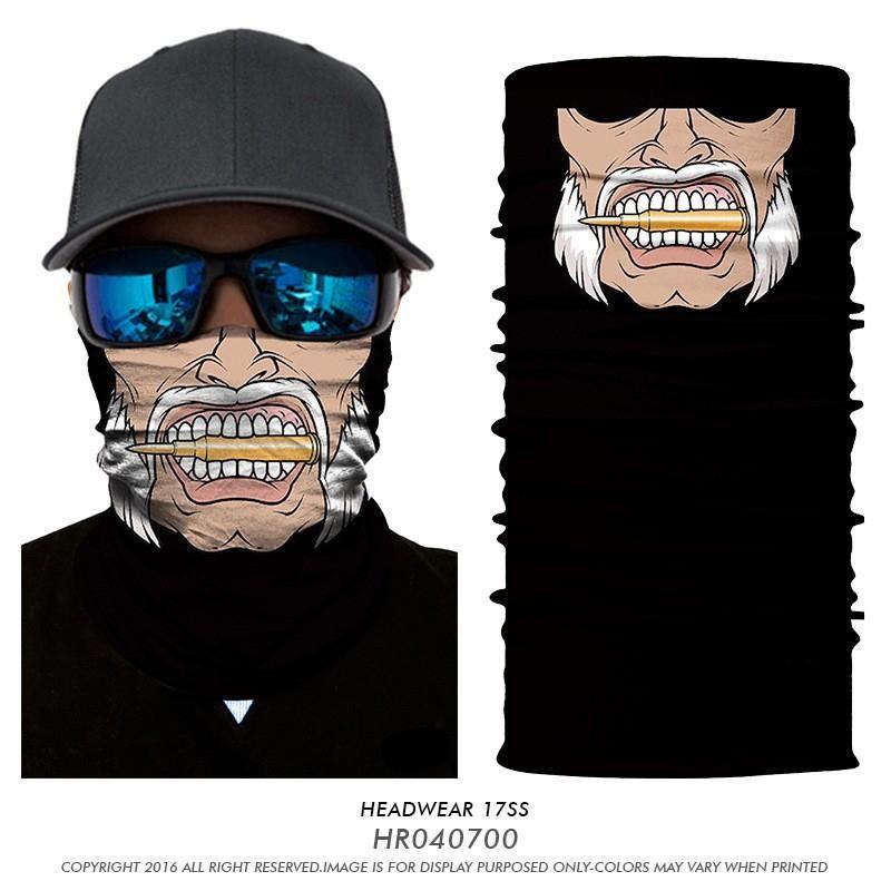 3D Ao Ar Livre Ciclo Balaclava Lenço Sem Costura Anti-UV Multifuncional Headwear Bandana 3D Boca Headband Ciclismo Multifuncional Bandana Buffs