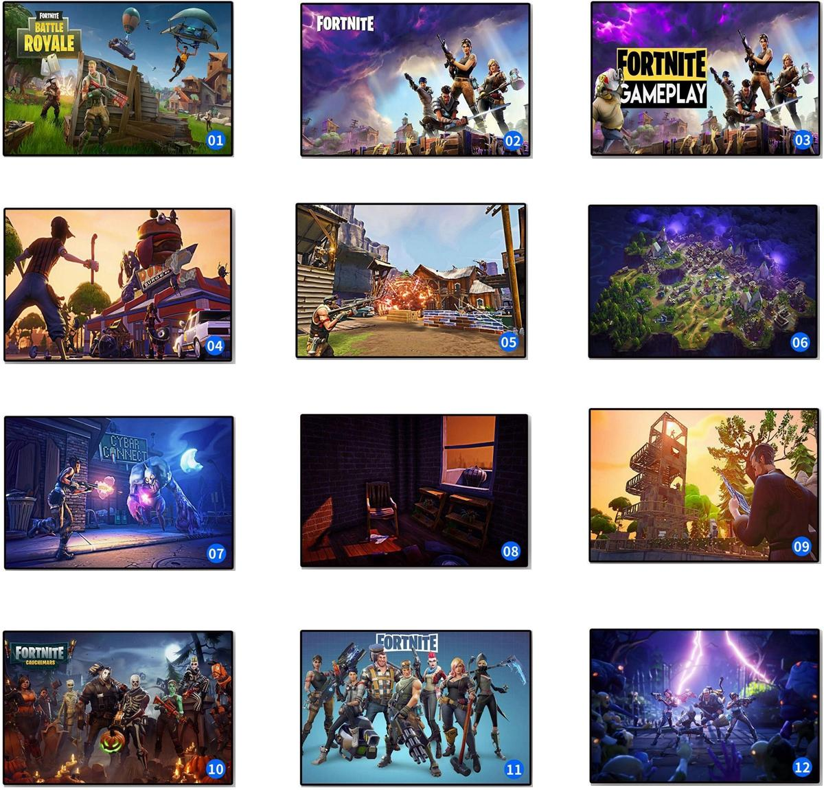 Fortnite Battle Royale Game Poster Wall Painting Posters And Prints Canvas Art Wall Pictures Game Poster DDA602 Wall Stickers
