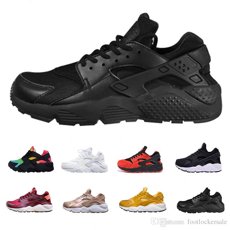 edf94d376b7f 2019 Air Huarache Ultra Running Shoes For Men Women Designer Sports Sneakers  Triple White Black Huaraches Fashion Classic Shoes Maxes Size 36 46 From ...