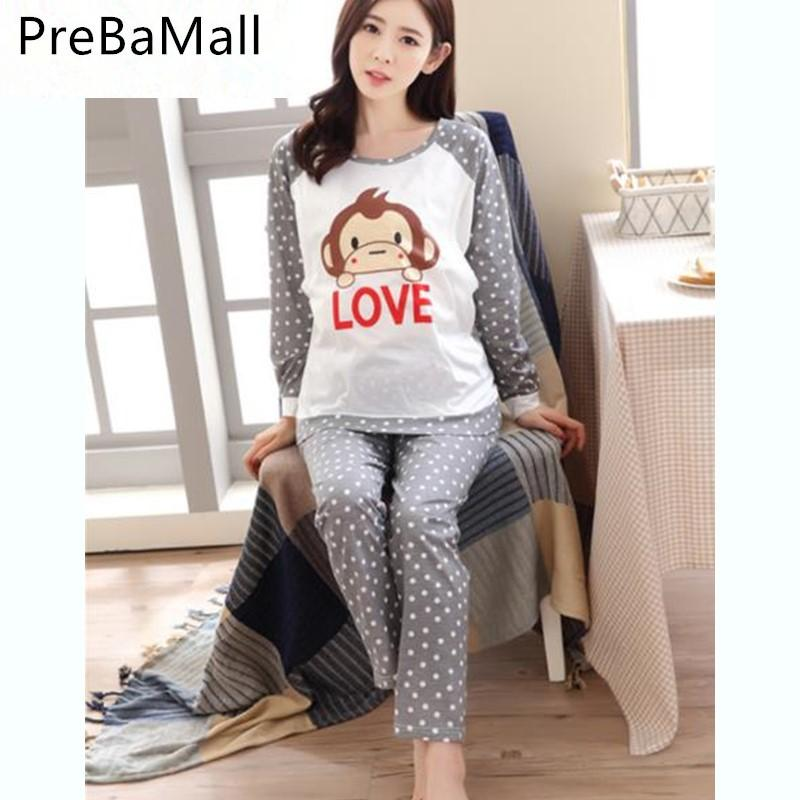 90b2950103008 2019 Cotton Long Sleeve Nursing Clothes Nursing Pajamas For Pregnant Women  Pyjama Breastfeeding Pregnancy Gravidity Nightgrown B0513 From Bradle, ...