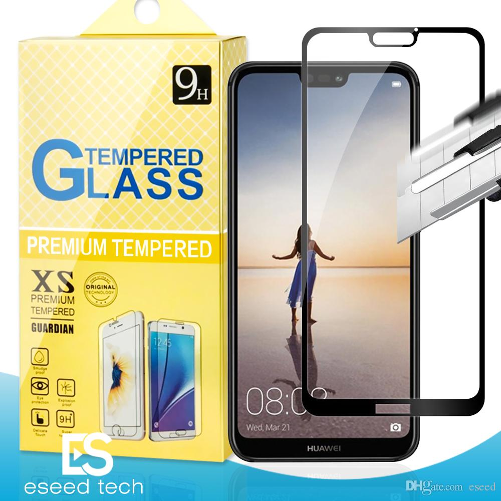 For J2 CORE Huawei Mate 20 X P20 P10 Lite Pro Honor 7X 6X ascend xt2  Alcatel x1 Evolve 2 5D Full Cover Flim Tempered Glass Screen Protector
