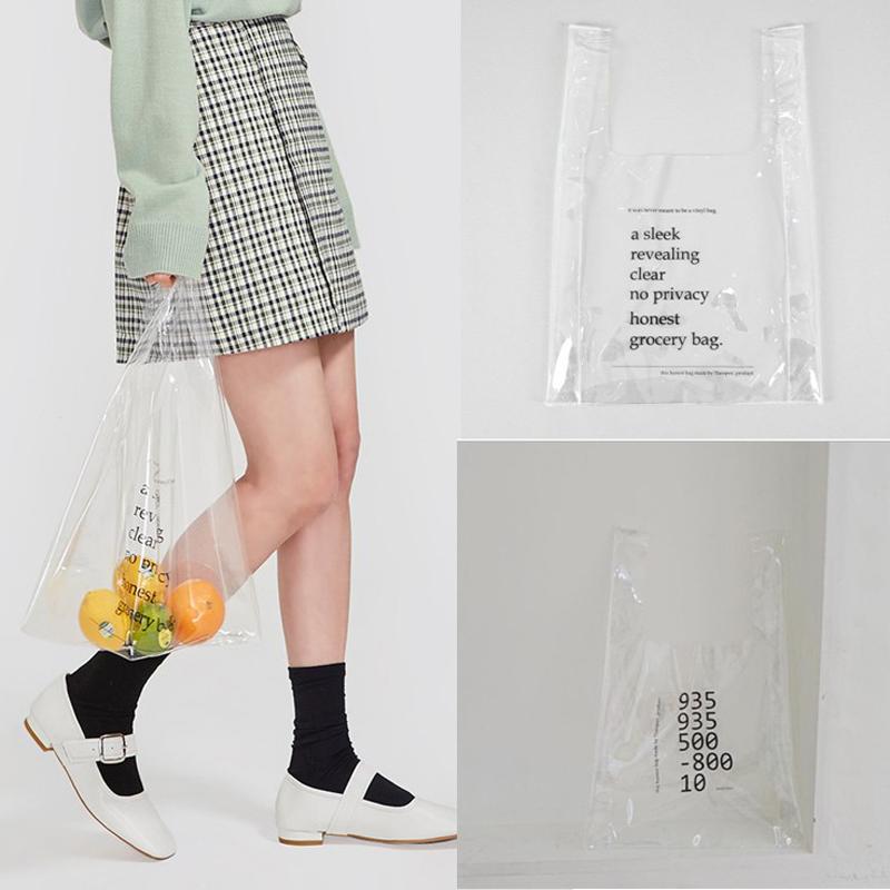 High Quality Women Messenger Handbag Clutch Transparent Clear PVC ... 2798a928c0635