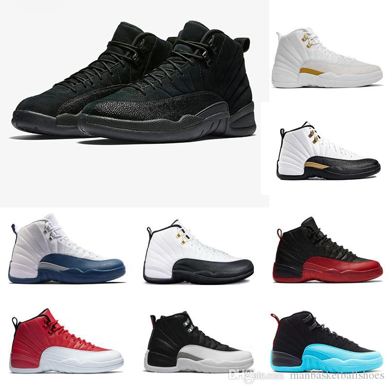 5cbaf6da6994 TOP Man Basketball Shoes 12 12s Mens Sneaker French Blue Flu Game Cherry Gym  Red Taxi Playoff Master Athletic Sports Zapatos Trainer Jordans Running  Shoes ...