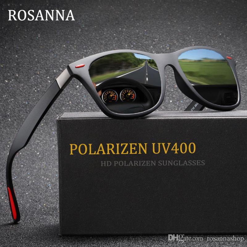 dcfcfebc4b4 ROSANNA BRAND DESIGN Classic Polarized Sunglasses Men Women Luxury Driving  Square Frame Sun Glasses Male Goggle Gafas De Sol Uv400 8083 Mens Sunglasses  ...