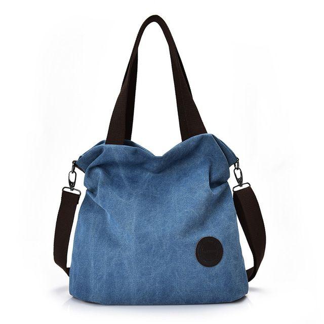 d384d4102422 Vintage Canvas Women HnadBag Single Shoulder Bags Solid Ladies Messenger  Bag Sac Travel Bags Female Crossbody Bags Bolsas Q-163