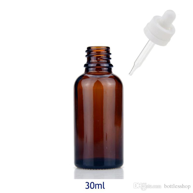 30ml amber glass bottles 30 ml glass dropper essential oil bottle with dropper child proof cap with factory price