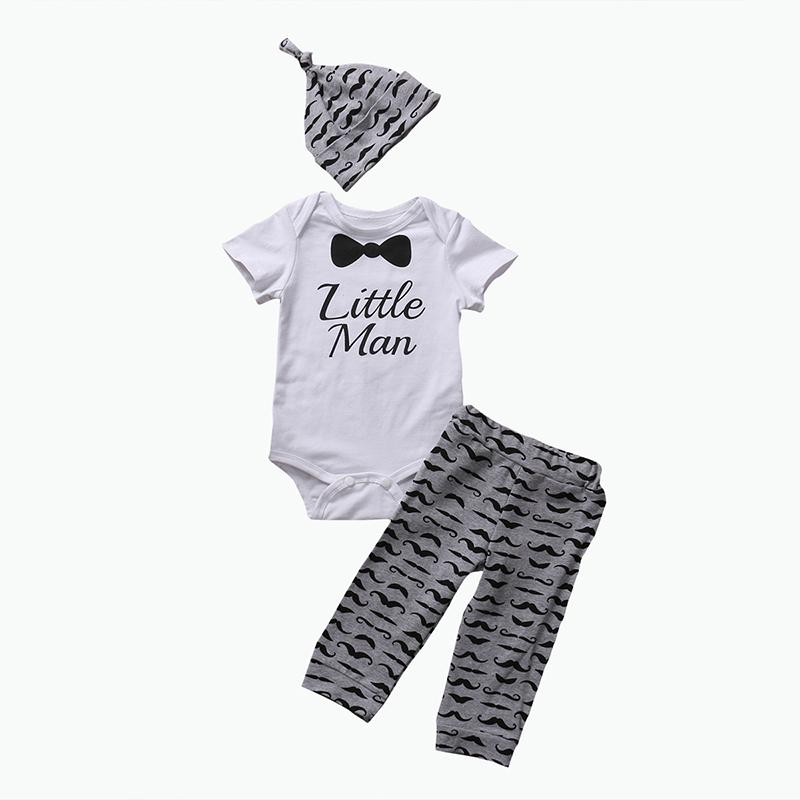 3dccd7c61bc0 Newborn Baby Boys Clothes Set Gentleman Short Sleeve Bodysuit ...