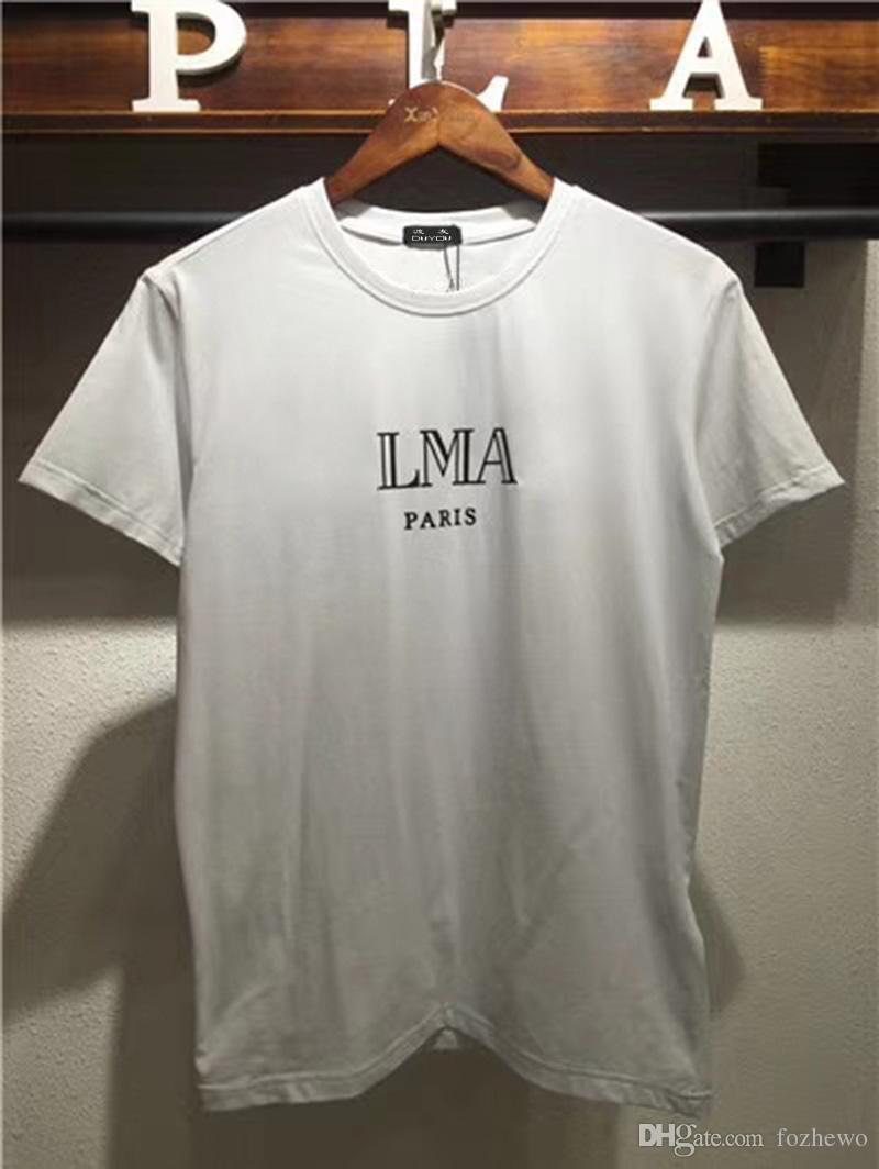 PB Paris Summer Mens 100% Cotton T-Shirts Letter Print Famosa marca de la ropa del hombre de manga corta camisetas masculinas Tops Tees 0316