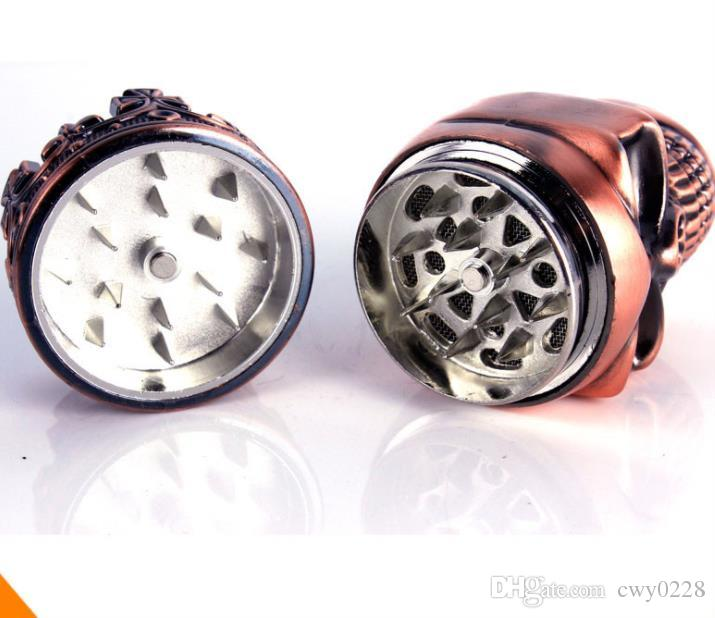 The metal tobacco grinder. TOBACCO GRINDER creative non mainstream skull broken smoke detector