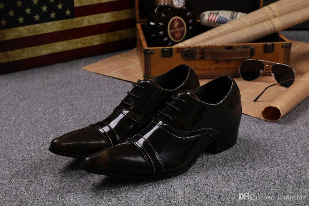 83fd3fe1dbf4 ... Man Dress Shoes Lace Up Ponited Toe Mans Leather Shoes Casual Business  Shoes