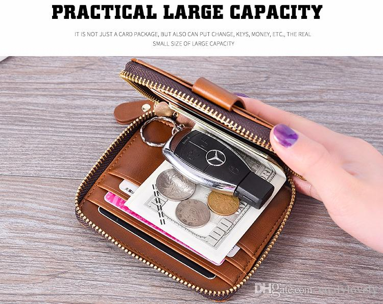2018 Male luxury wallet Casual Short designer Card holder pocket Fashion Purse wallets for men wallets purse with tags