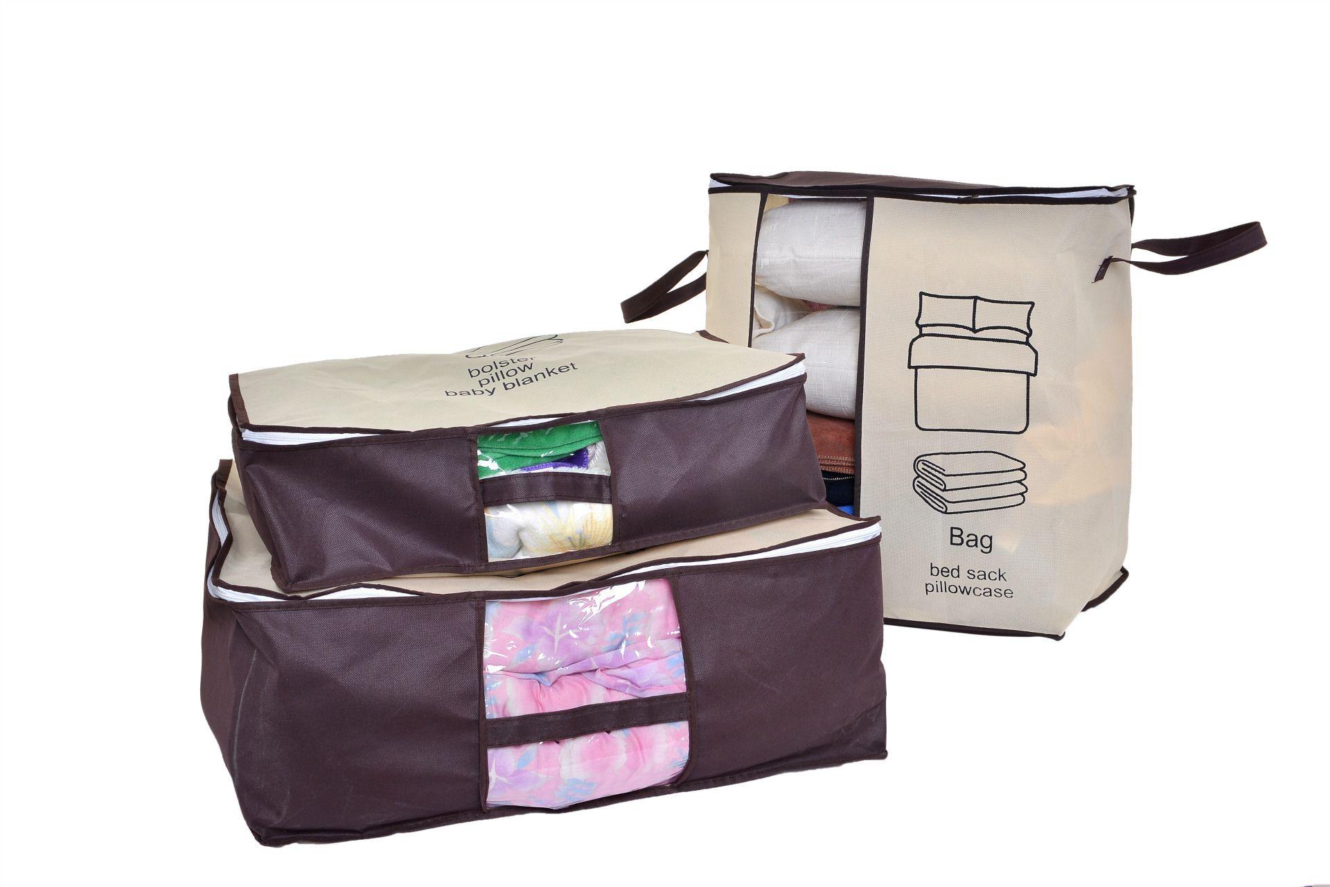Non-woven Portable Clothes Storage Bag Organizer Folding Closet Organizer For Pillow Quilt Blanket Bedding Top Quality bags