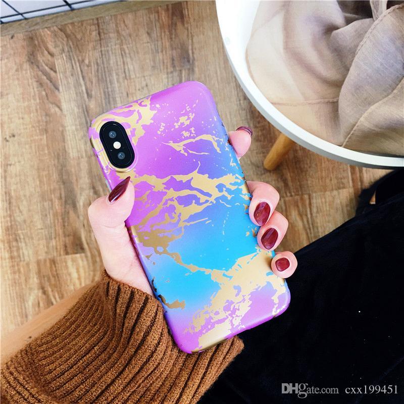 Design de mármore Telefone Estilo Caso Maçante Polonês TPU Material para o iphone Caso Capa bom sentimento para o caso de toque Navio via DHL Livre