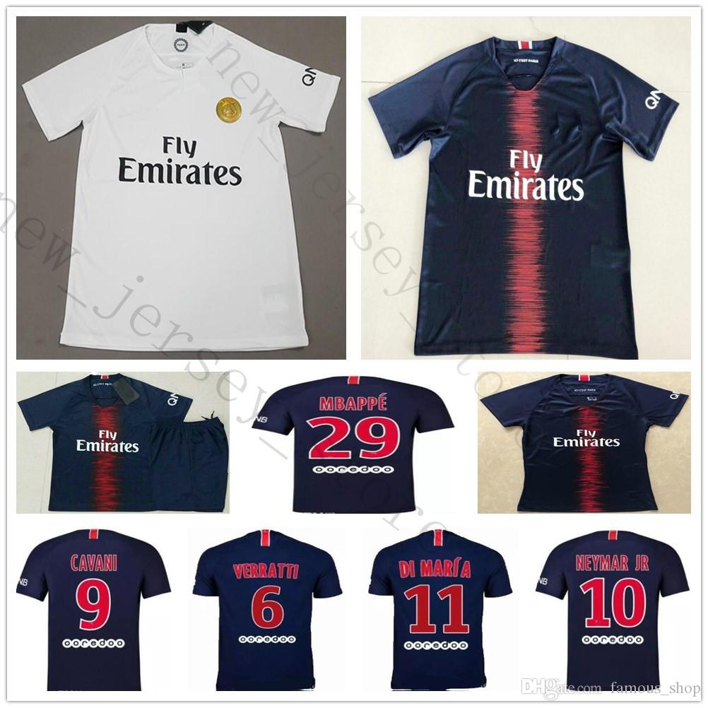 37483fe81 2018 2019 PARIS Soccer Jersey 1 BUFFON 6 VERRATTI 9 CAVANI 10 NEYMAR ...