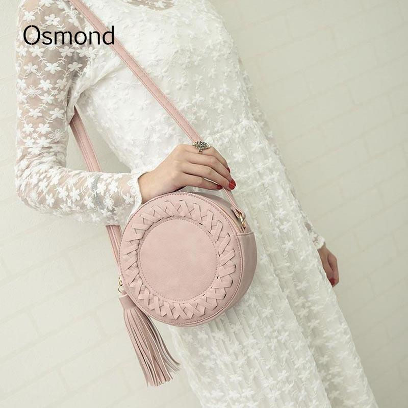 bbb93606a7 Osmond 2018 Round Bag Women Small Woven Messenger Crossbody Bags For Womens  Shoulder Bags Roll Circular Cross Body Summer Bag Y18102404 Best Handbags  Cute ...