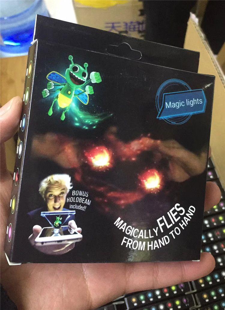 Helle Bugz magische Bienen mit Projektions-Lichtern Finger-3D Bienen-Licht Neuheit-Zaubertricks Spielzeug-Glühen im dunklen magischen Stöcke-Kindergeschenk neu