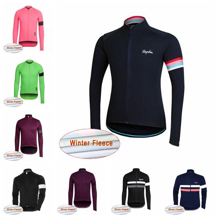 210742501 2018 RAPHA Winter Cycling Jersey Thermal Fleece Men S Cycling Clothing Road Bike  Wear Bicycle Jersey Cycle Clothes Ropa Ciclismo 82826J Sports Shirts Mens  ...