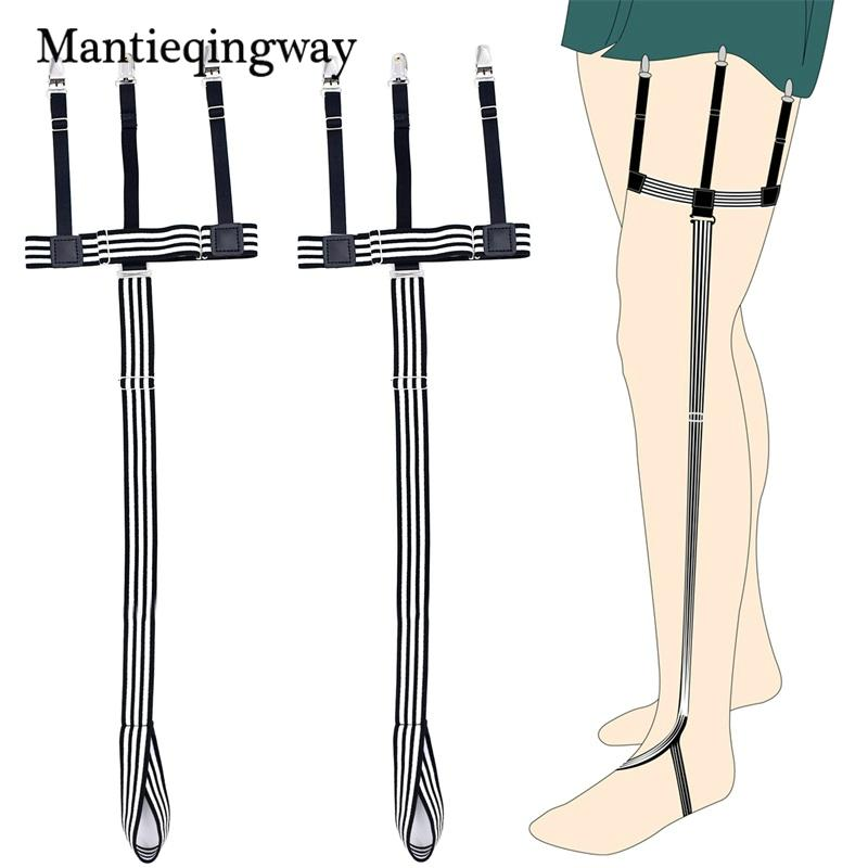 Men's Accessories Mens Shirt Stays Garter Straps Adjustable Elastic Sock Suspenders For Mens Business Legs Shirt Garter Belts Beautiful In Colour