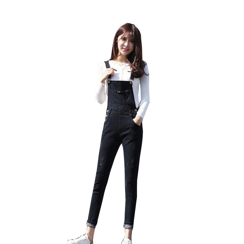 2019 Fashion Women Jumpsuit Denim Overalls 2018 Spring Autumn Black Casual  Stretchable Skinny Suspender Romper Jumpsuits Jeans Female From Kennethy f3d57105a2a0