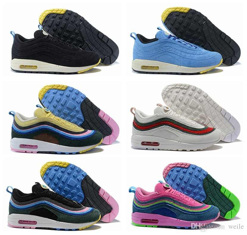 286503c56b1 2018 Sean Wotherspoon X 87 97 1 VF SW Hybrid Men Women Running Shoes 97s  Ultra Multicolor Mens 8797 Trainers Sports Sneakers Chaussures 97 Running  Shoes 97s ...