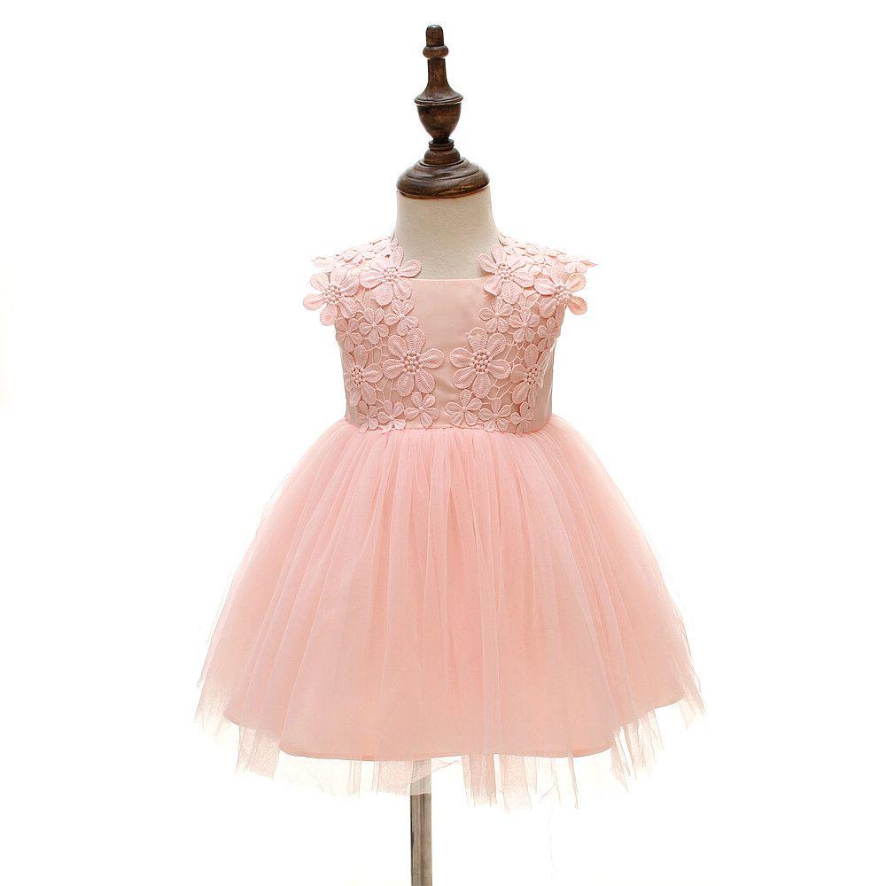 d73c116df6cf Baby Girls Dress Infant Princess Christening Baptism Party Birthday ...