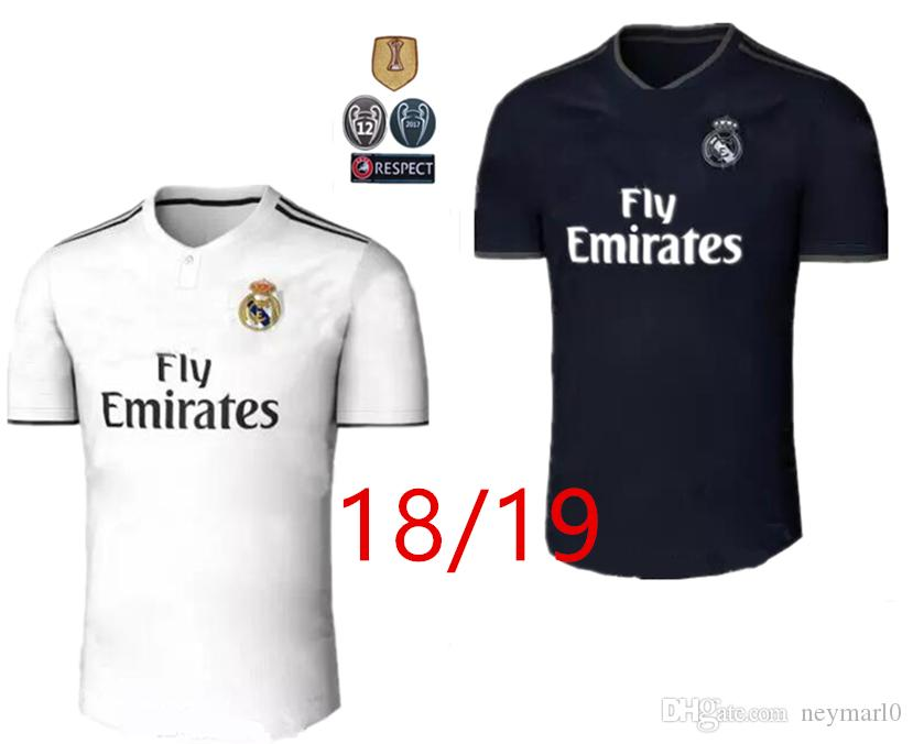 2018 Real Madrid Soccer Ronaldo Modric Kroos Sergio Ramos Bale 2018 2019  ASENSIO ISCO Chemise Champions League Free Express Football Jersey Shirt  Soccer ... 95be0f017