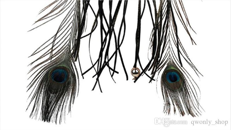 Vintage Peacock Feather Dreamcatcher Handmade Wind Chimes Borla Colgante Dream Catcher Coche Colgante de Pared Decoración Arte Regalo