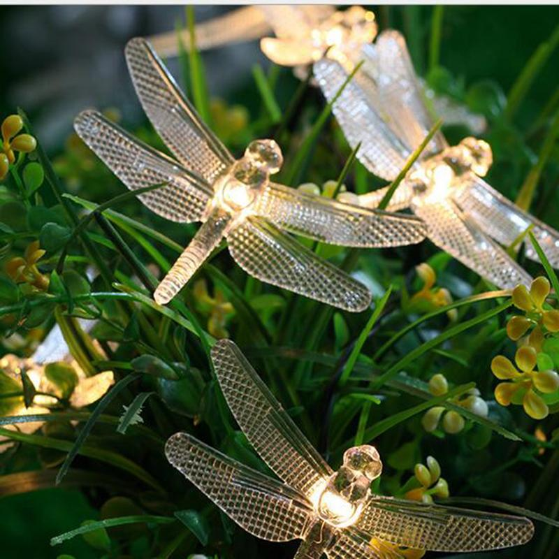 Dragonfly Solar Powered 20 Led String Lights Outdoor Party Christmas  Holiday Party Wedding Garden Decoration Clear String Lights Cool String  Lights From ...